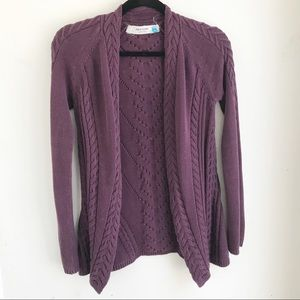 SPARROW | Purple Cable Cardigan XS